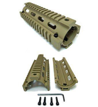 Amazon com: AR-15 Quad Rail Handguard, Flat Dark Earth, 6 5