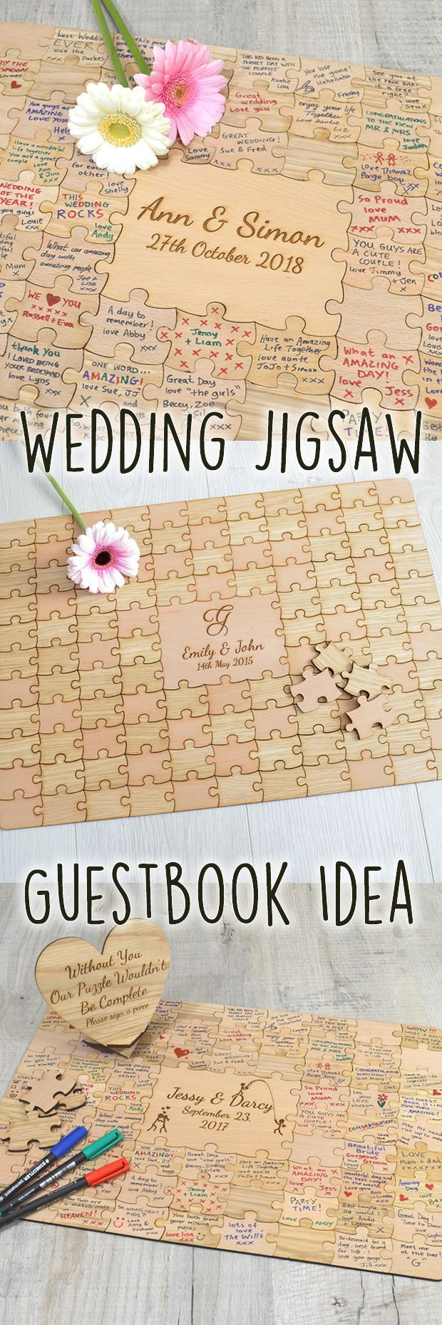 Wedding decorations names october 2018 Introducing our beautiful wedding jigsaw puzzle piece guest book