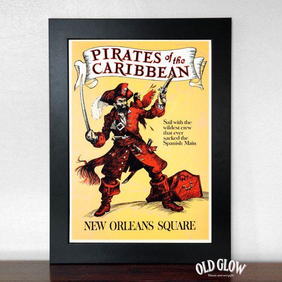 Pirates of the Caribbean Vintage Disneyland by OldGlowGifts | Disney ...