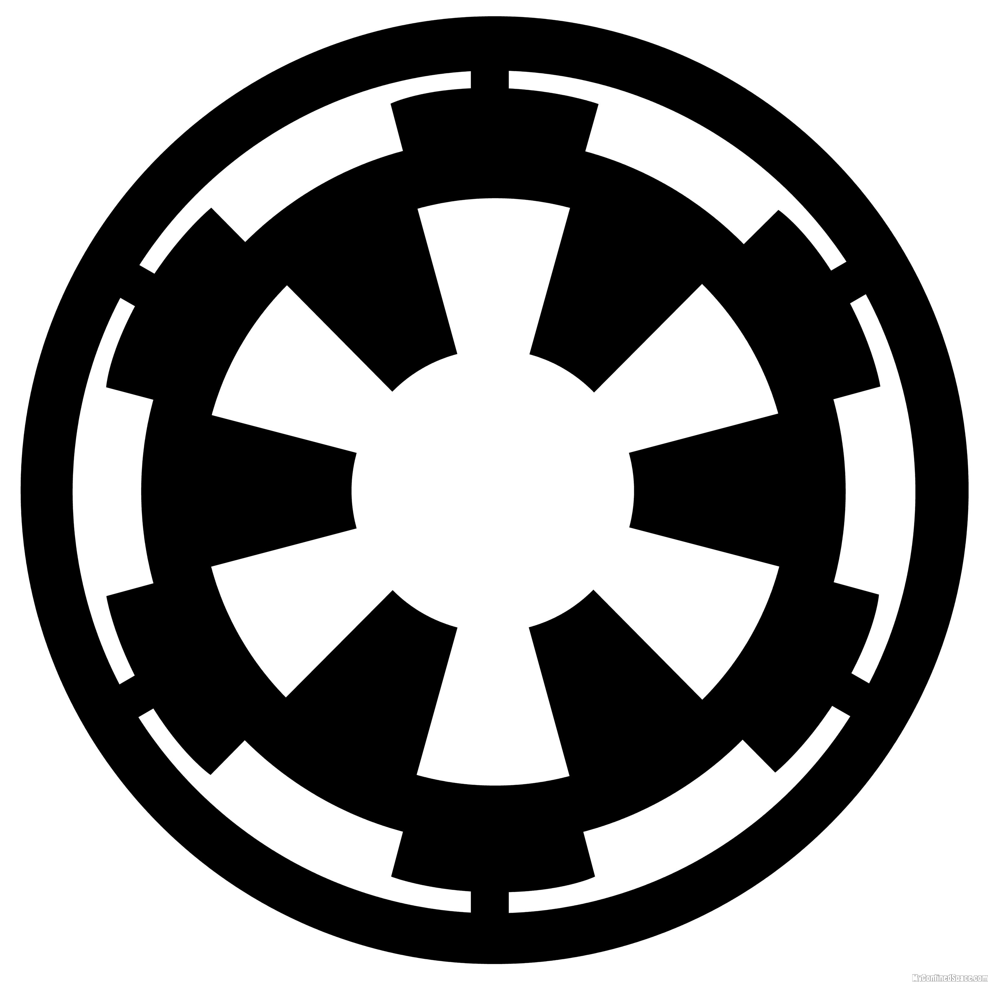 Galactic Empire 6 Inch Vinyl Decal Star Wars Silhouette Star Wars Stencil Star Wars Empire Logo