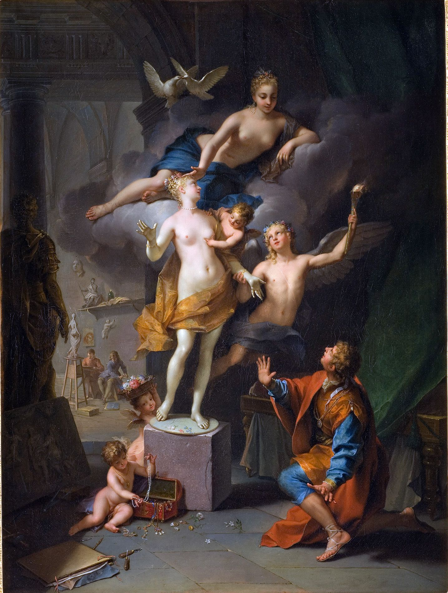raoux pyg on and galatea oil on canvas x raoux 1677 1734 pyg on and galatea oil on canvas 134 x