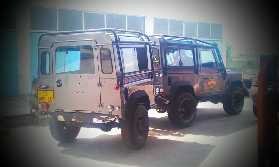 BUY A DEFENDER, CUT IN HALF, NOW YOU HAVE A TRAILER