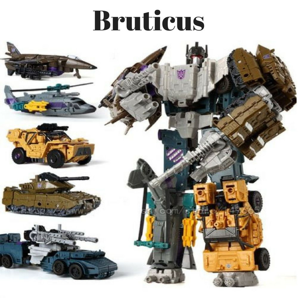 5 in 1  Transformer Bruticus Decepticons robots action figure toys 5 models cars