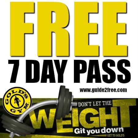 Free 7 Day Gold S Gym Vip Membership Gym Vip