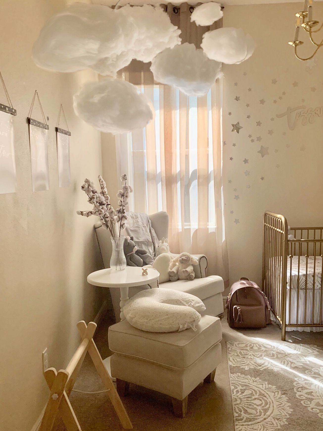 Tessa Starling Nursery By K.A. Buckley | Girl Nursery Room, Baby Girl Nursery Clouds, Baby Girl Nursery Room