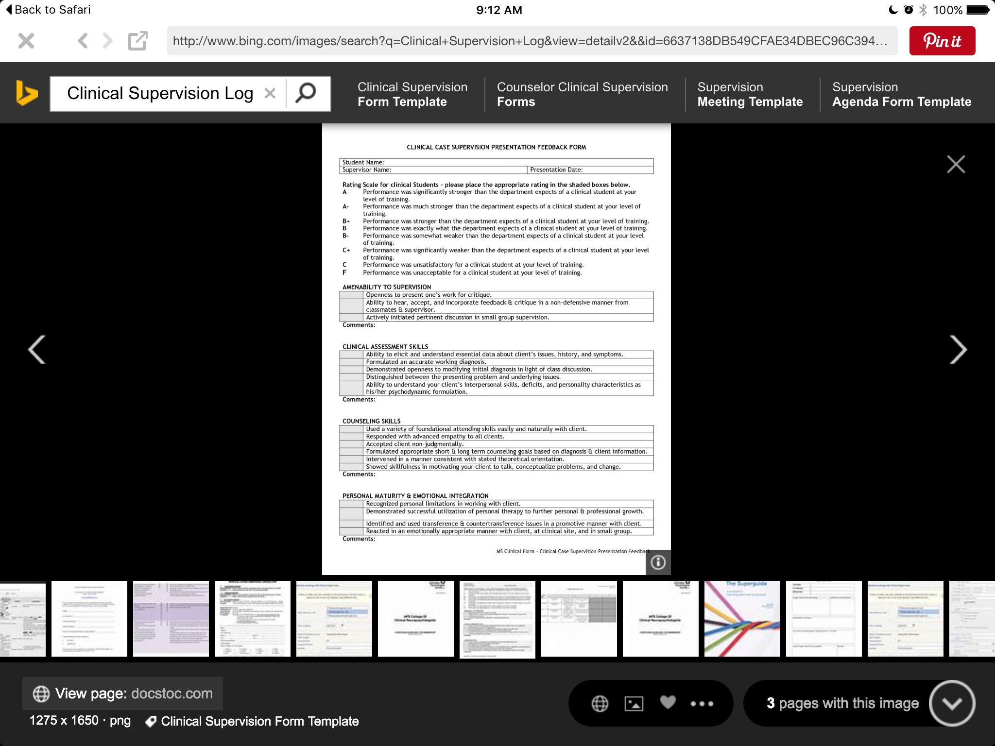 Case Presentation Feedback Form
