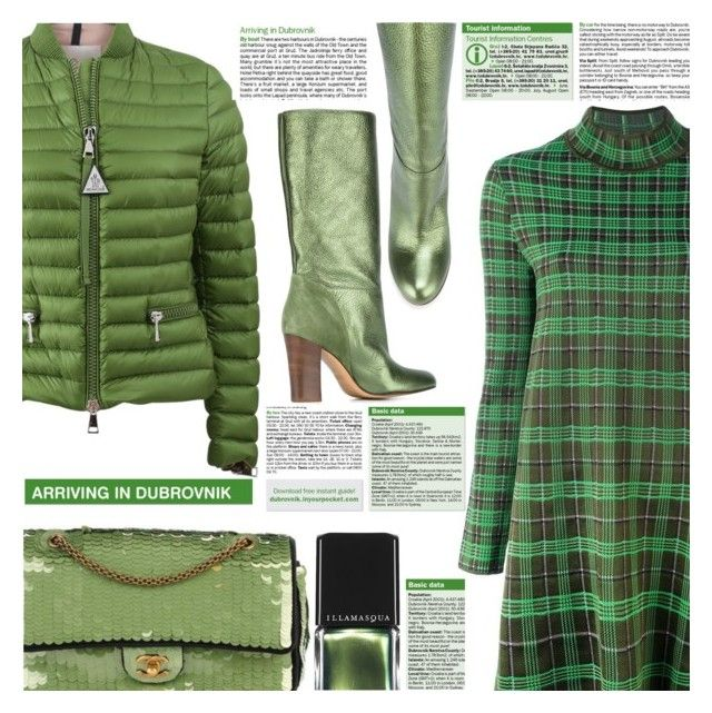 """PERFECT GREEN"" by shoaleh-nia ❤ liked on Polyvore featuring M Missoni, Michel Vivien, Moncler, Illamasqua and Chanel"