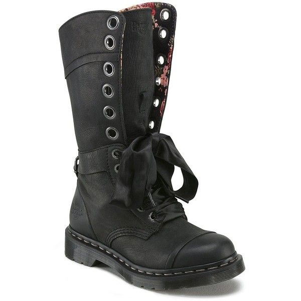 4d5b121c5fb Dr. Martens Triumph 1914 12-Eye Combat Boots ❤ liked on Polyvore featuring  shoes
