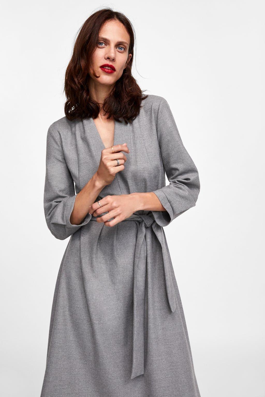imagen 2 de vestido midi pliegues de zara | kleider, herbst