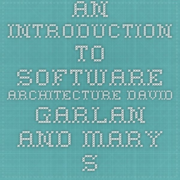 SOFTWARE ARCHITECTURE MARY SHAW PDF