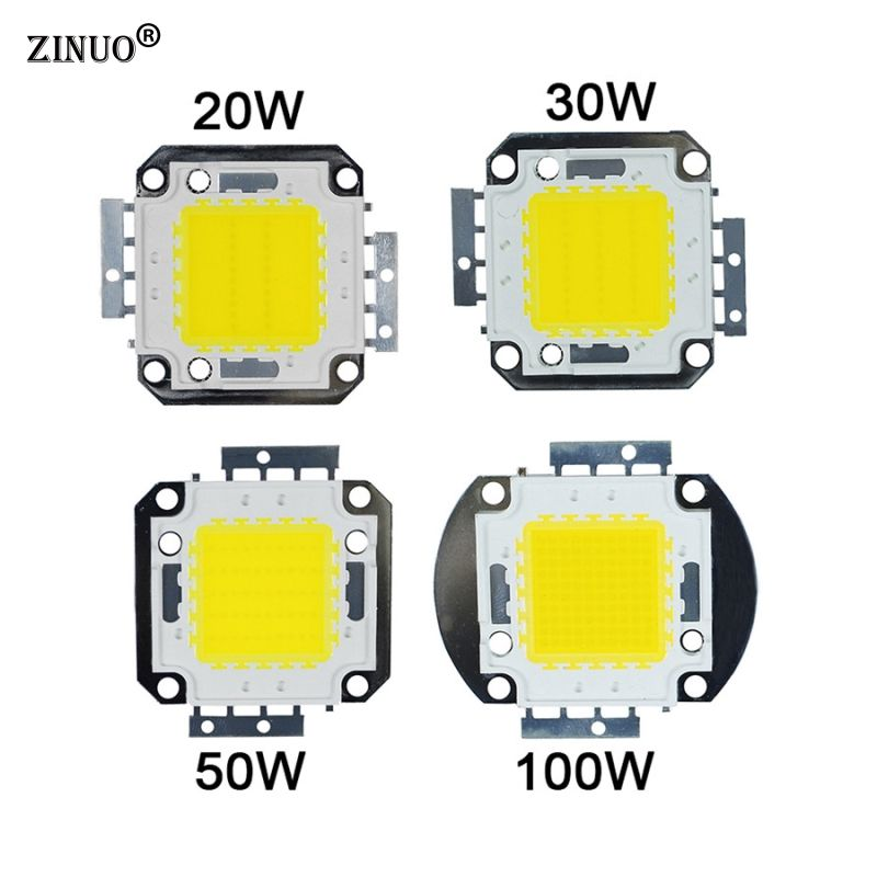 Zinuohigh Power Led Beads 10w 20w 30w 50w 100w Rgb Led Chips Integrated Beads Smd For Floodlight Spotlight Red Green Blue Yellow Light Accessories