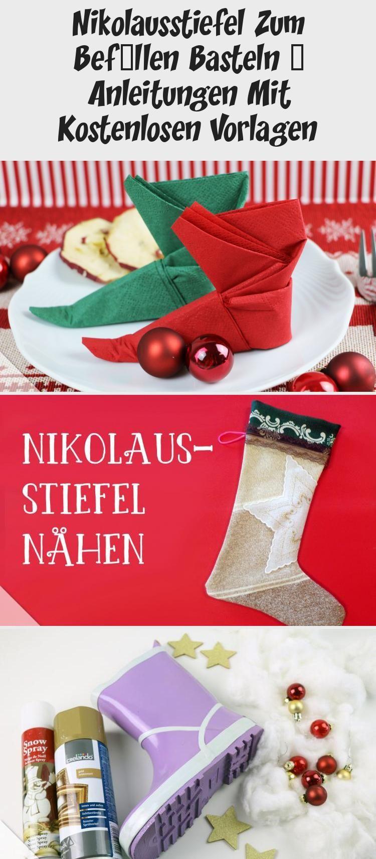 Anleitung Nikolausstiefel basteln aus Filz Talu.de