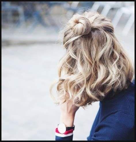 10 Half Up Frisuren Für Kurzes Und Mittellanges Haar Jetzt Versuchen