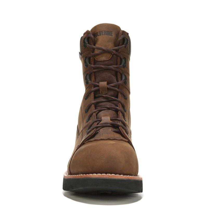 "Wolverine Men's Blacktail 8"" Medium/X-Wide Composite Toe Work Boots (Brown Leather 600G) - 8.5 2W"