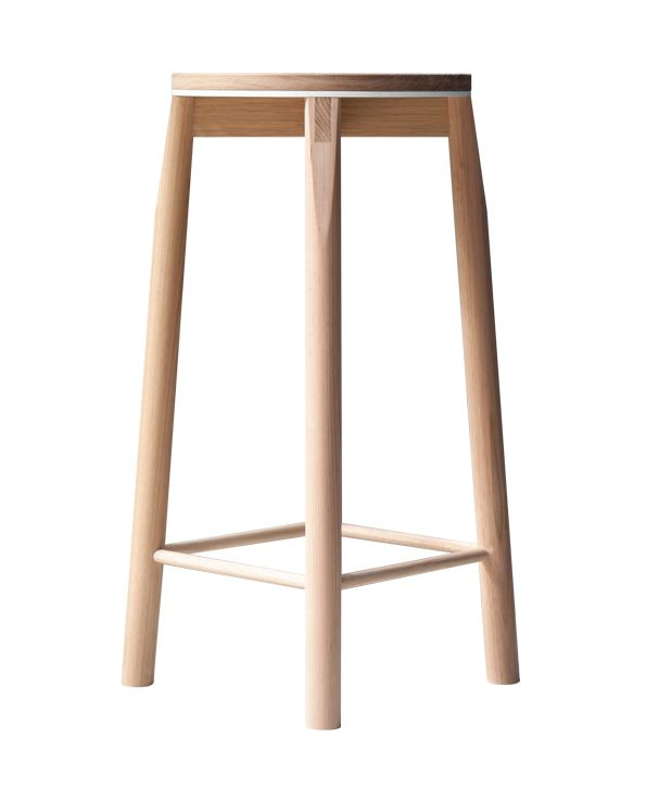 660mm Crop Bar Stool White Contemporary Stools Bar Stools Stool
