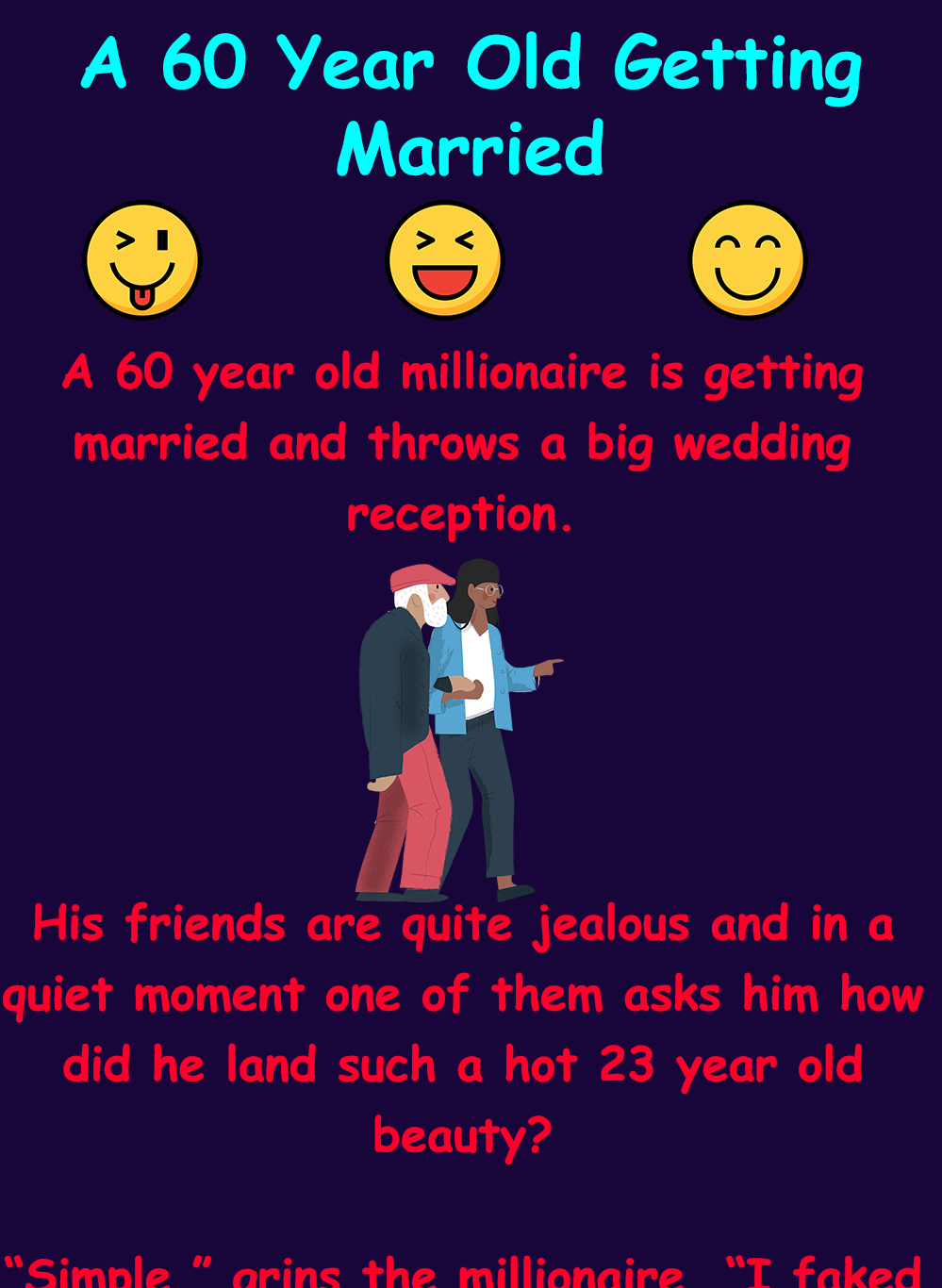 A 60 Year Old Getting Married Getting Married Wife Jokes Funny Conversations