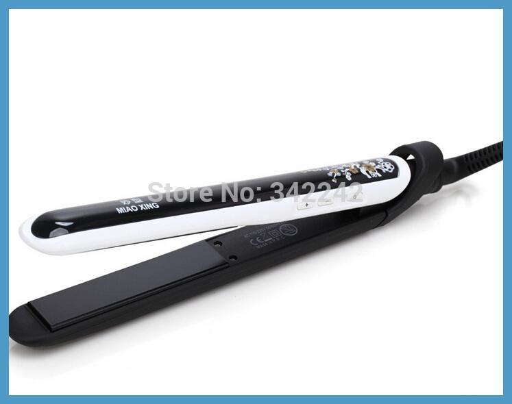 100-240v display Original hair straightener professional chapinha flat iron ceramic+titanium plate de cabello corrugation