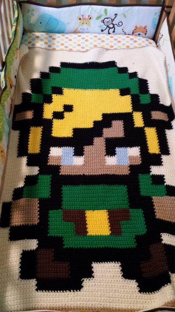 Pixel Link Crochet Blanket Secret Baker Baby Board Pinterest