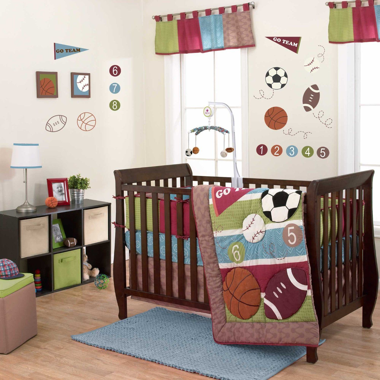 Belle sports star baby bedding and decor habitaciones - Habitaciones para ninos pequenos ...