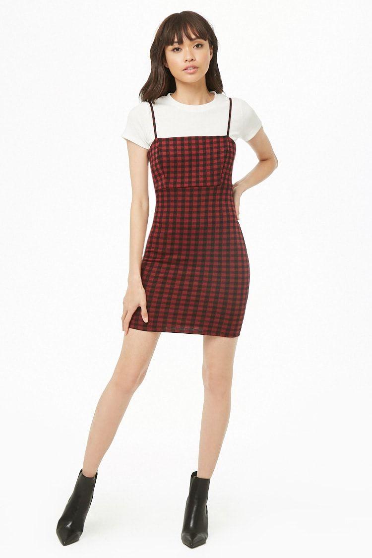 326bfaa4993e Plaid Cami Mini Dress | Clothes Inspiration in 2019 | Fashion, F21 ...