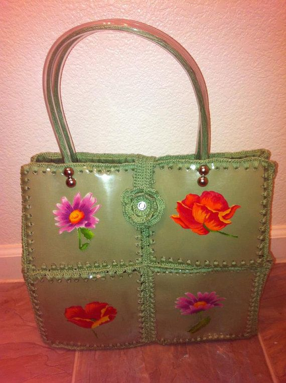 Purse Made Out Recycle Plastic Bottles And Crochet