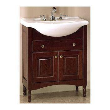 Simpkins Narrow Depth Bathroom Vanity Base Only Bathroom
