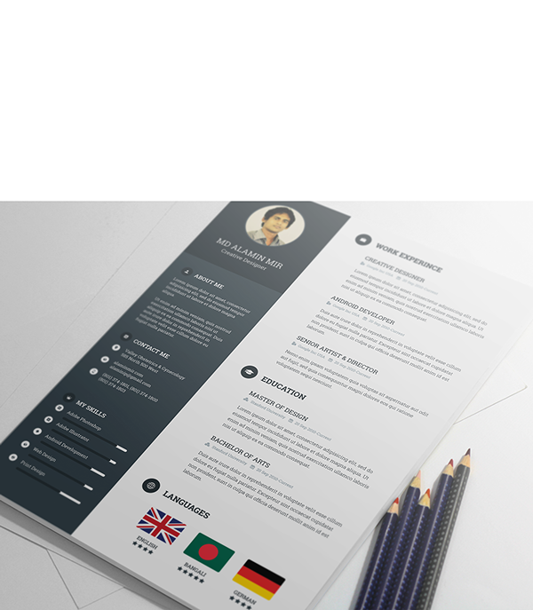 free resume template on behance why not make your cv look this good