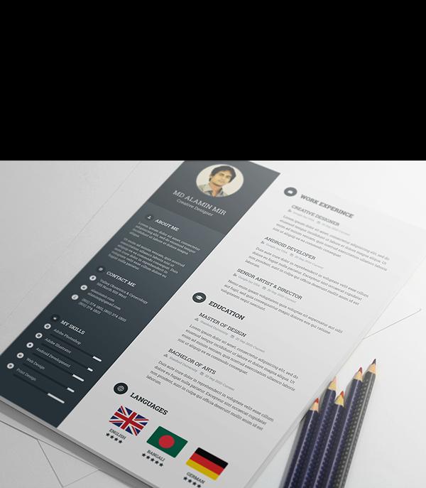 Https Www Behance Net Gallery 21971739 Free Resume Template Creative Resume Template Free Resume Design Template Best Free Resume Templates