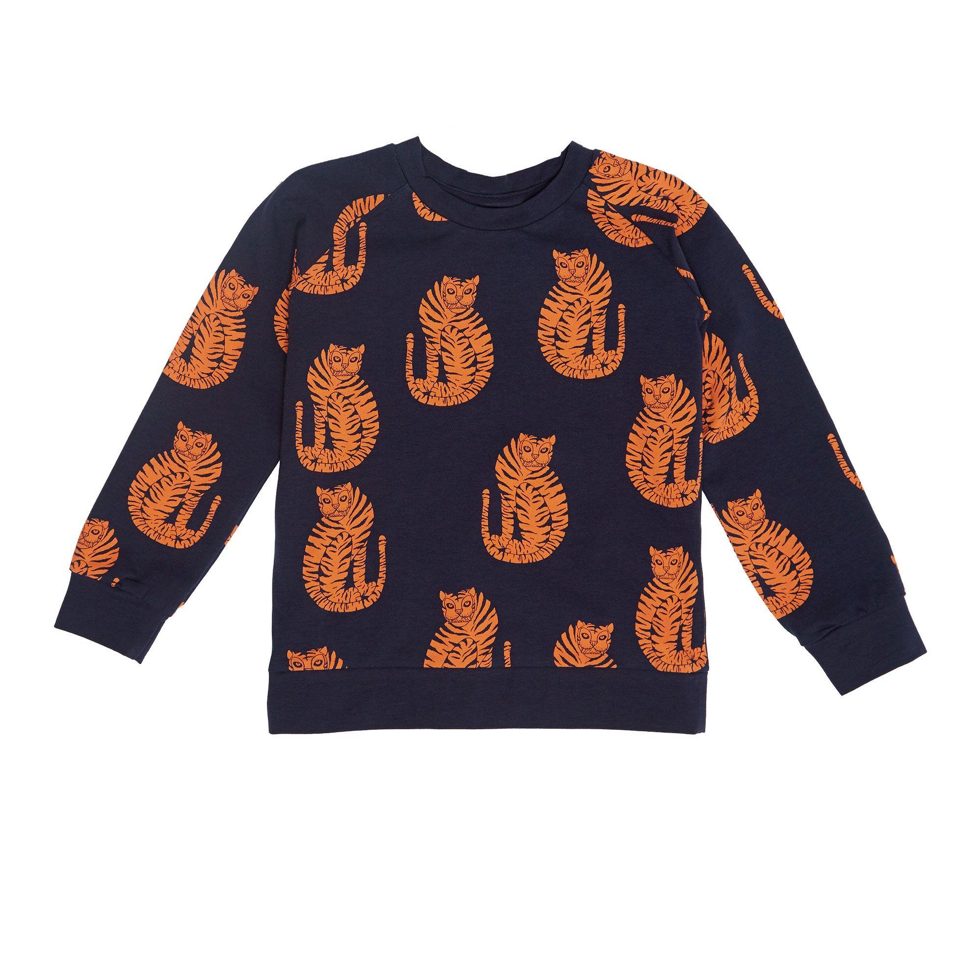 Kinderkleding Webshop.Mini Rodini Long Sleeve Tiger Print T Shirt Mini Rodini Online