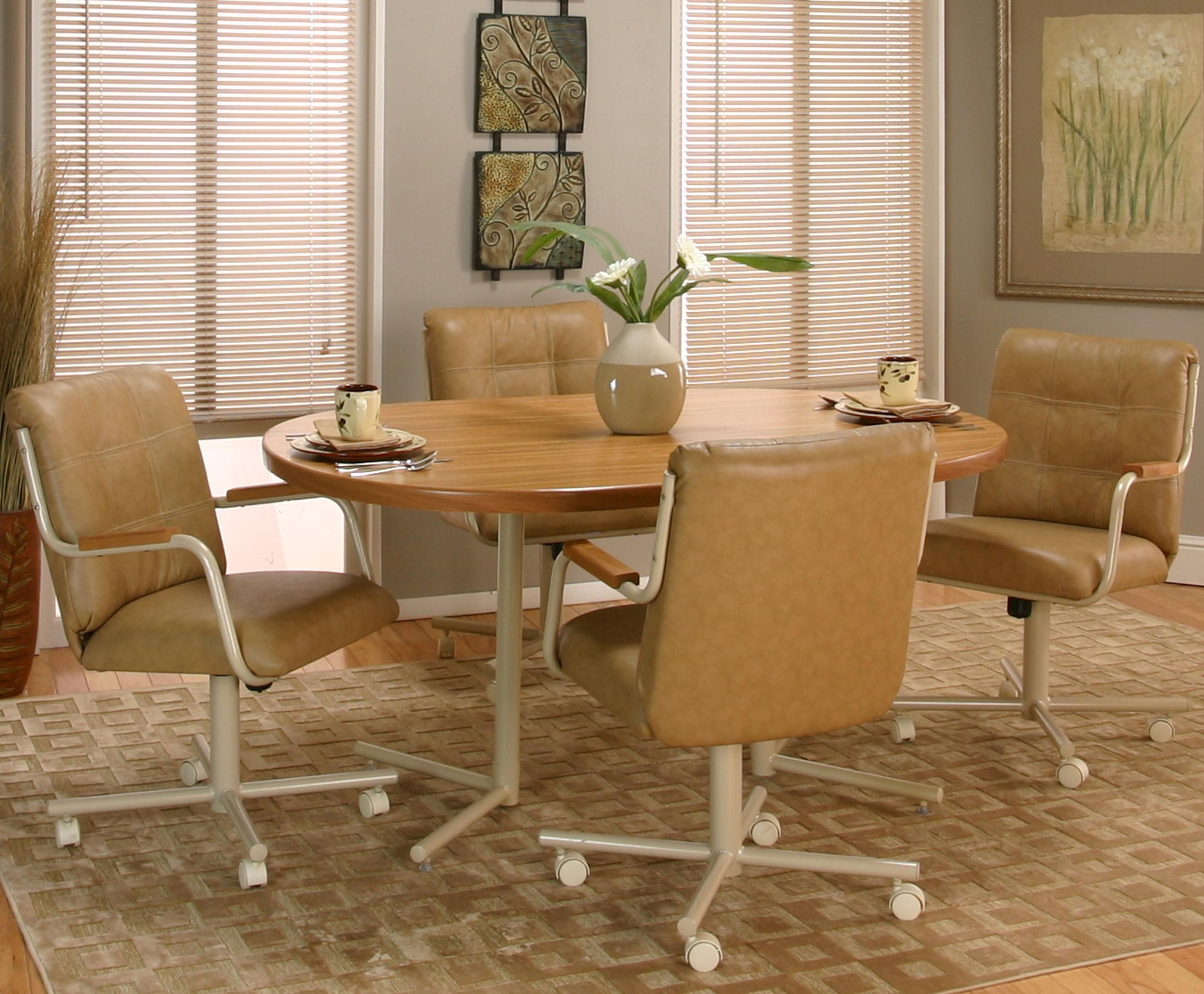 cramco motion  carter casual rectangular dinner table w