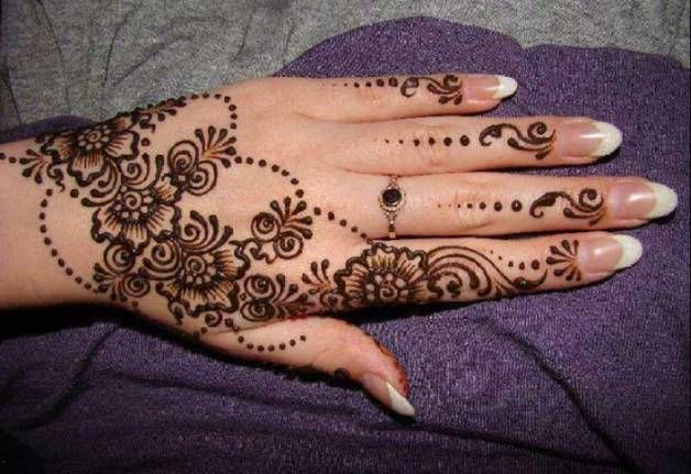 Easy Mehndi Ideas : Top rajasthani mehndi design for hands easy designs
