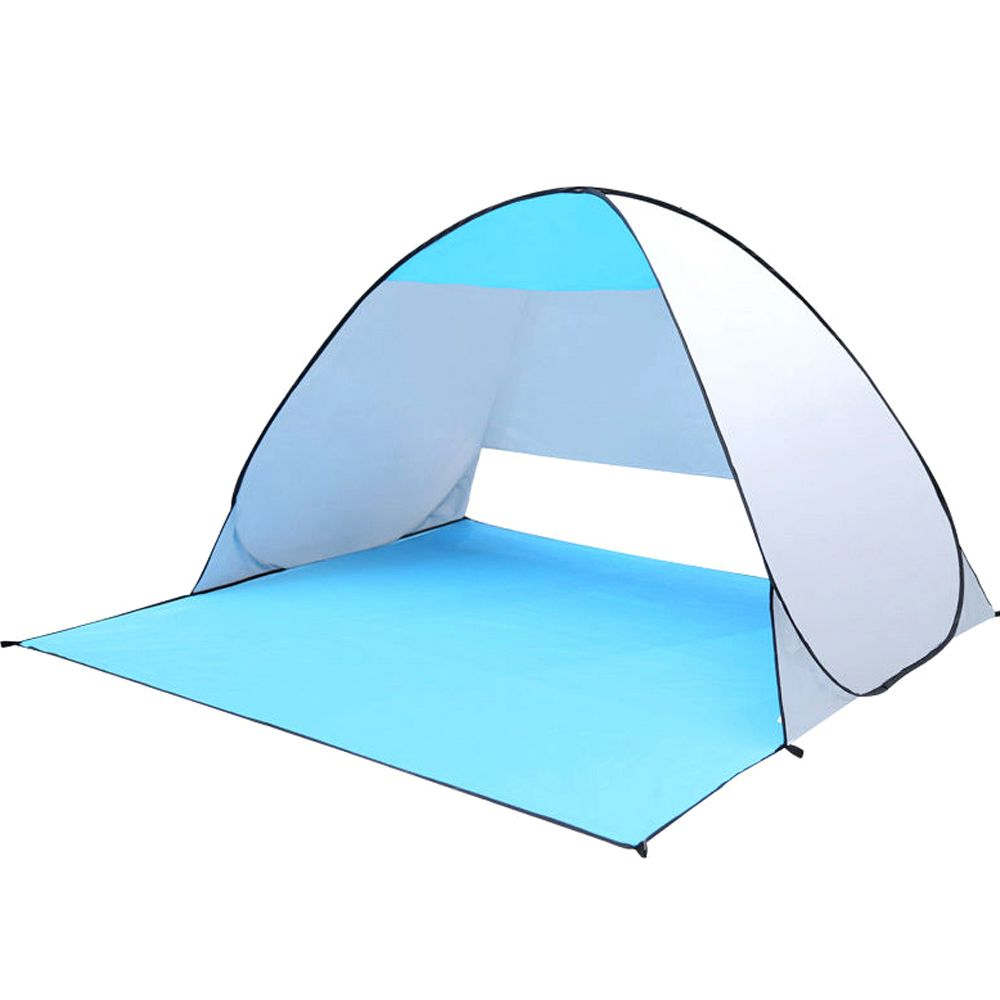Quick Automic Opening Beach Tent Uv Protection Camping Sun Shelter Ice Fishing Tents Waterproof Polyester Fabric Fishing Tent Fishing Umbrella Beach Tent
