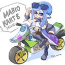 マリオカート8デラックス発売 カートでもバイクでもイカしていこう 本人はmk8d未購入 マリオ イラスト マリオカート8