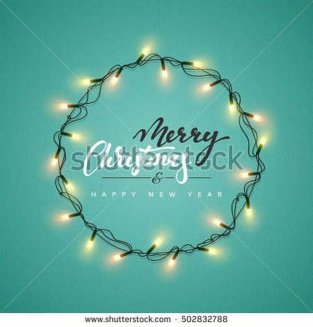 Free Images Free Vector Free Photos Free Icons Free Illustrations For Personal Commercial And Noncommercial Use Xmas Holiday Greeting Card Design Christmas Lettering Lighted Wreaths
