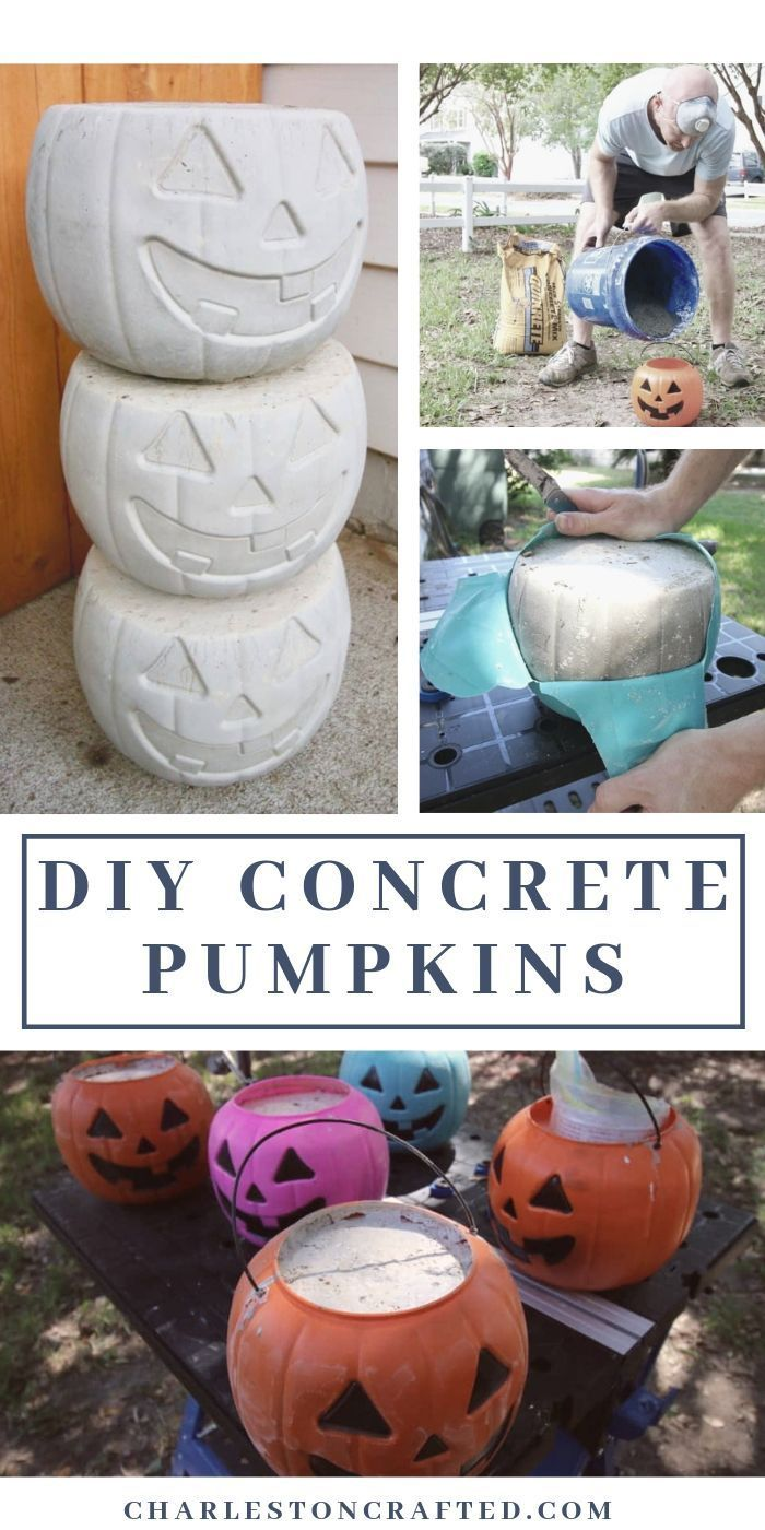 How to Make DIY Concrete Pumpkins