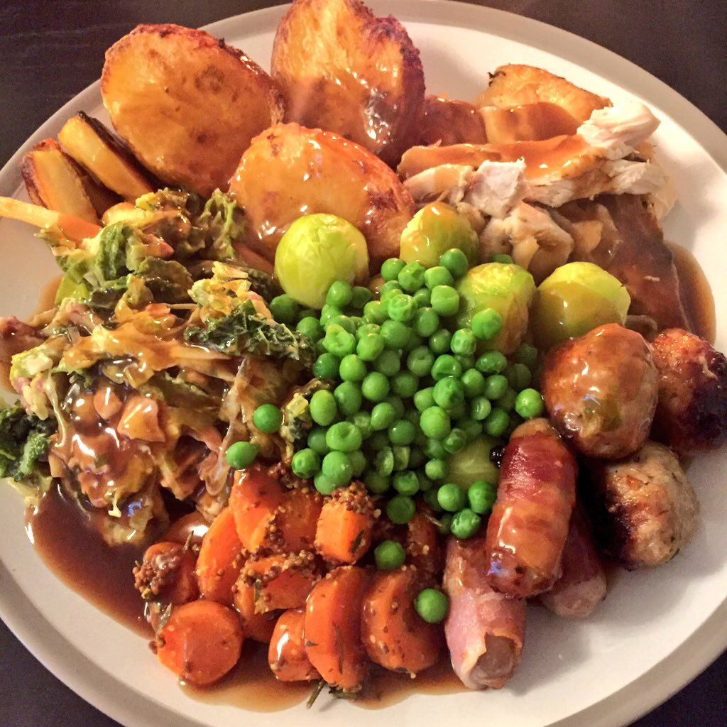 Sunday Roast Sunday Roast Dinner British Roast Dinner