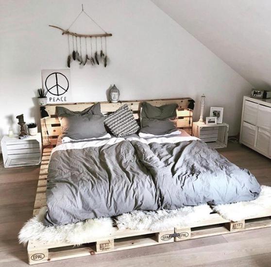 Boho Pallet Bed