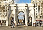 Marble Arch, ceremonial arch designed by John Nash, located at the north-east corner of Hyde Park in London  Park in London