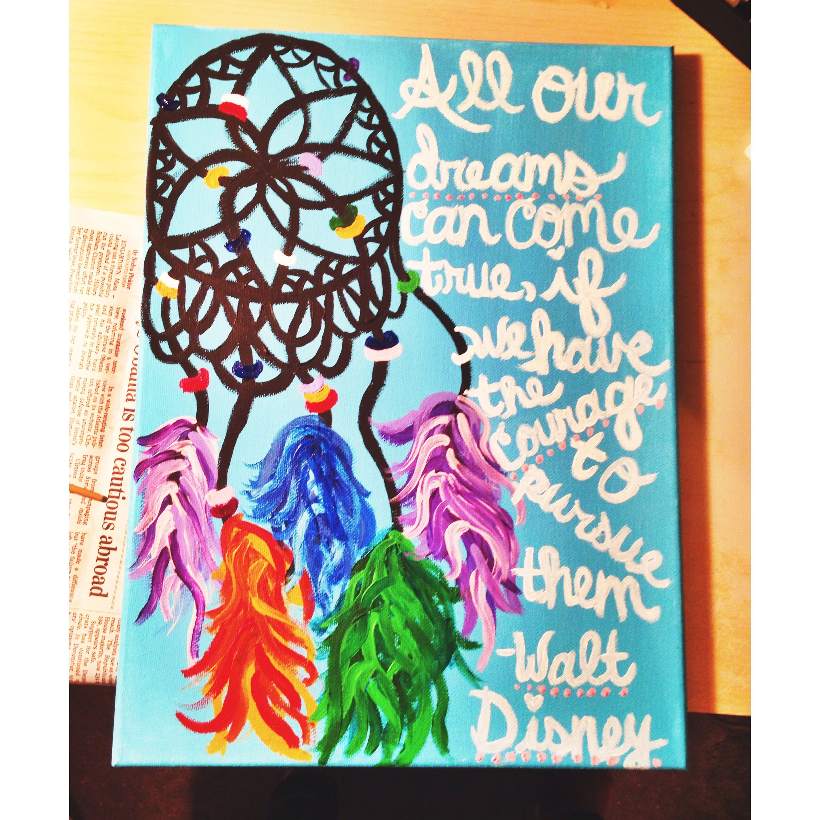 All our dreams can come true, if we have the courage to pursue them ~Walt Disney