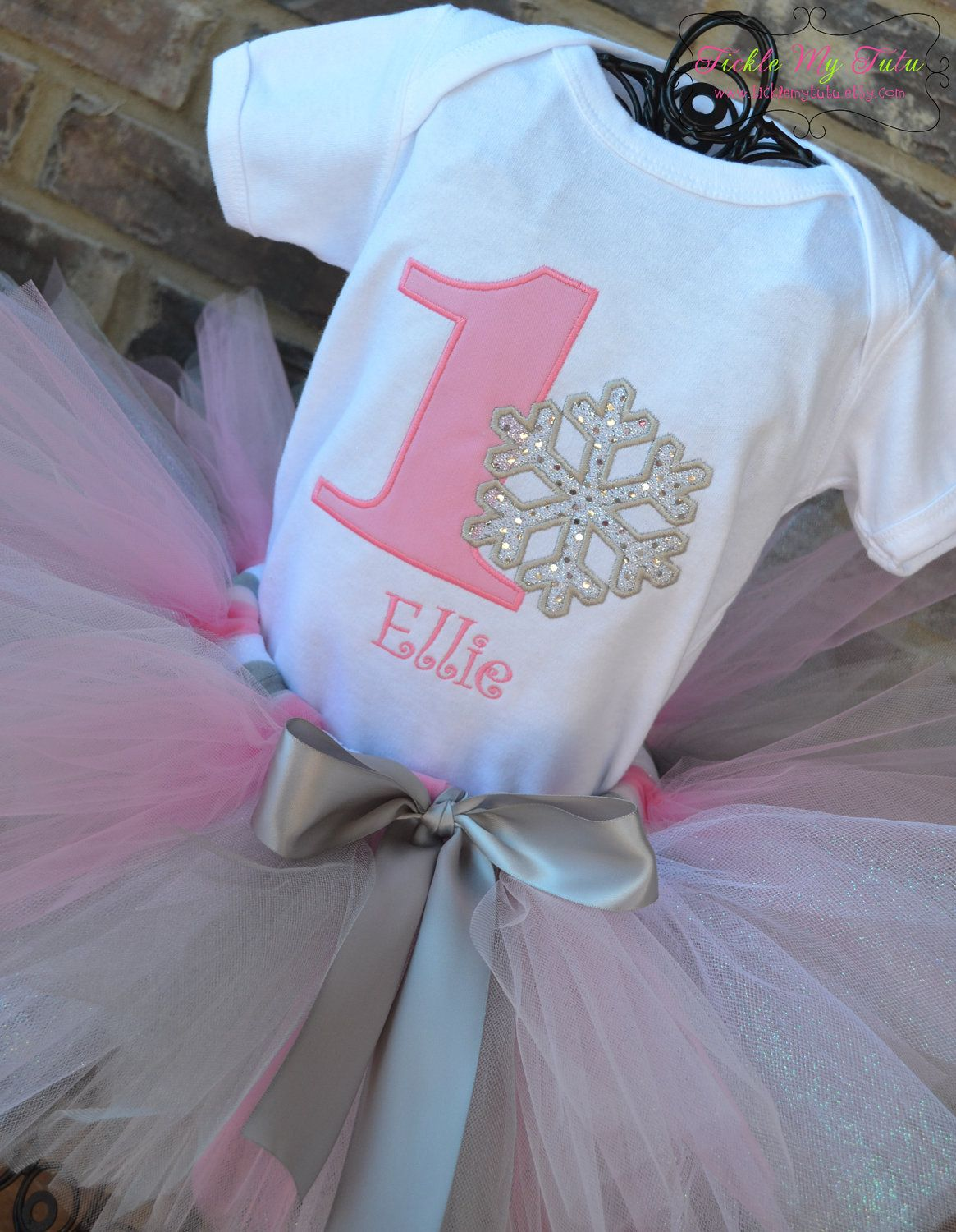 Winter ONEderland Pink Snowflake Winter Themed by
