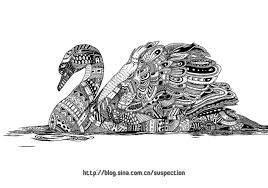 Image result for zentangle swan