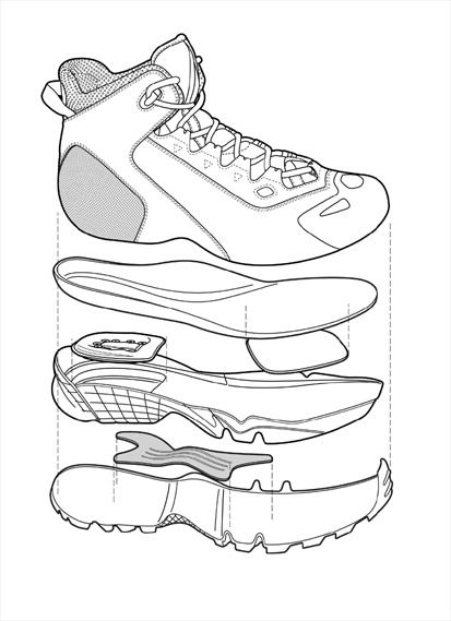 Nike Wallowa Shoe Exploded View Diagrameg 413569 Favourites