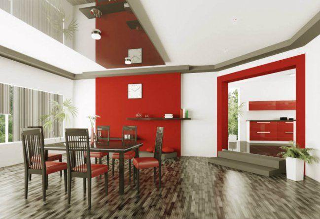 Ideas Para Pintar Tus Paredes De Color Rojo Colores Paredes Paredes De Comedor Y Decoracion De Comedores Modernos