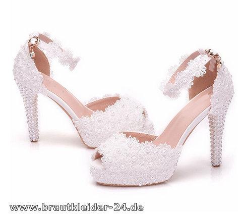 Spitzen Pumps Lolita-32 weiß - Shoes, Pumps, High Heels