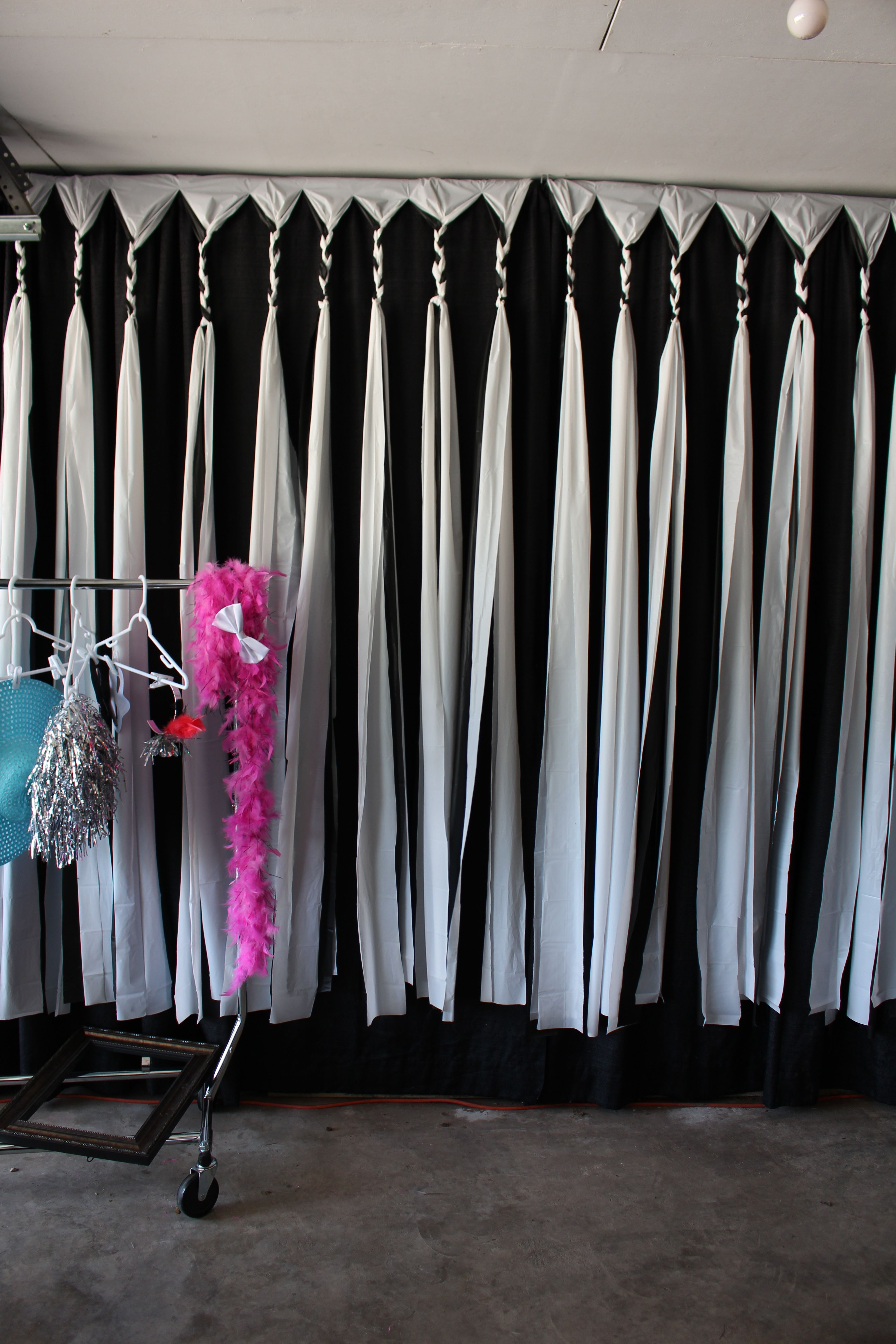 Homemade Backdrop For Photo Booth Made From Dollar Store