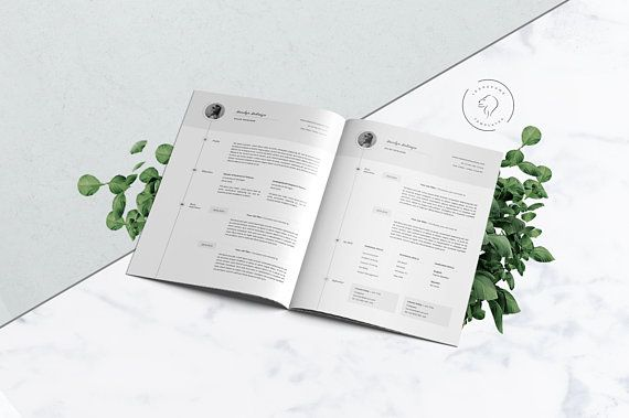 Resume Template CV Template of 5 Pages Professional Resume - resume 5 pages
