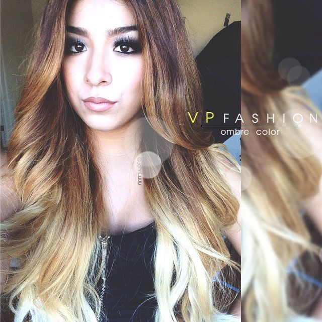 Light Brown Balayage Indian Remy Clip in Hair Extensions HSEBB ...