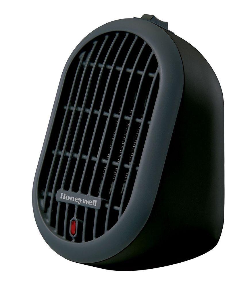 Portable Mini Ceramic Heater Electric Small Space Heating Honeywell Two Settings Honeywell