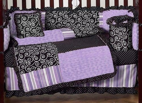 Kaylee Purple Baby Crib Bedding And Nursery Decor By Sweet Jojo