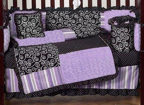 Kaylee Purple Baby Crib Bedding And Nursery Decor By Sweet Jojo